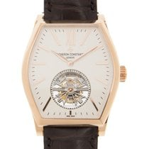 江诗丹顿  (Vacheron Constantin) Malte 18k Rose Gold White Manual...