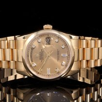 Rolex 18238 18K YG Day-Date Pres w/ Factory  Champagne Dial