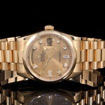 Ρολεξ (Rolex) 18238 18K YG Day-Date Pres w/ Factory  Champagne...