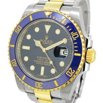 Rolex Oyster Perpetual Date 18K Gold/SS Submariner 116613LB,Wi...