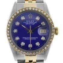 Rolex DateJust 16013 Two Tone Blue Diamond Dial/Bezel Jubilee...