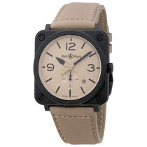 Bell & Ross Aviatio Desert Type Beige Dial Men's Watch...