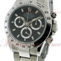 Rolex Cosmograph Daytona, Black Dial - Stainless Steel on...