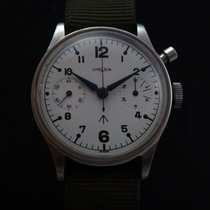 レマニア (Lemania) Vintage Military Monopusher Chronograph