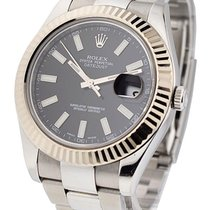 Rolex Used 116334_used_black_stick Datejust II 41mm Ref 116334...