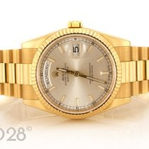 Rolex Day-Date  118238 Gelbgold Silver Dial Papiere 11/2011