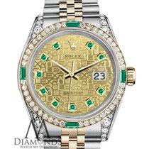 Rolex Ladies Rolex 18k Yellow Gold 36mm Datejust Two Tone...