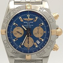Breitling Stainless Steel & 18k Gold Blue Dial Chronomat...