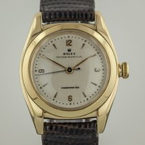 Rolex Oyster BubbleBack, 3131, Mens, 14K Gold, Vintage, Cream...