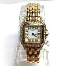 Cartier Panthere 18k Yellow Gold Ladies Watch With Diamonds In...