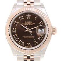 勞力士 (Rolex) Lady Datejust 18k Rose Gold And Steel Brown...