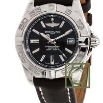 Breitling Galactic 32mm Windrider Black Dial Black Leather...