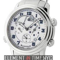 Blancpain Leman  Reveil GMT Stainless Steel White Dial