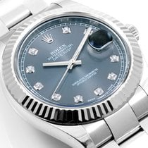 Rolex 41mm Datejust ll Factory rhodium Diamond dial complet