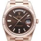 Rolex Day-Date 40 18 kt Everose-Gold Schoko DIA 228235