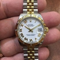 Rolex Datejust Steel and Yellow Gold White Roman Dial 31mm