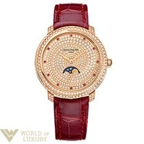Patek Philippe Complications 33,3mm Rose Gold Diamond Paved...
