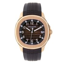 Patek Philippe Aquanaut 40mm Rose Gold Chocolate Rubber Strap