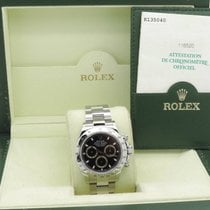 Rolex Daytona Cosmograph Black Steel Full Set Mint