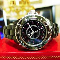Chanel J12 Ruby Dial Round 34mm Black Ceramic Watch