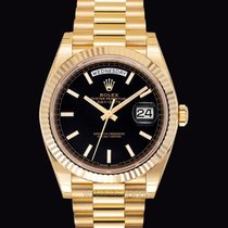 Rolex Day-Date Black 18k Gold 40mm - 228238