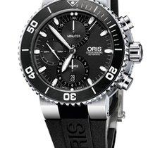 Oris Aquis Chronograph, Black Dial, Rubber Bracelet