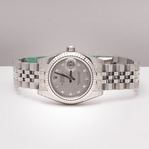Rolex Date Just Lady Mother Of Pearl Diamonds
