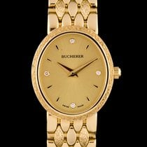 Carl F. Bucherer 18k Yellow Gold Champagne Diamond Dial Ladies...
