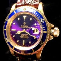 Rolex Submariner Gold 1680/8 Tropical Purple Blue