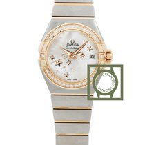 Omega Constellation Co-Axial 27mm Pink Gold Diamonds NEW