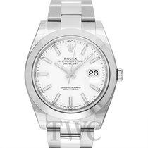 Rolex Datejust 41 White/Steel 41mm Oyster - 126300