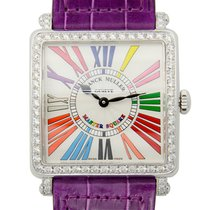 Franck Muller Master Square Stainless Steel With Diamonds...