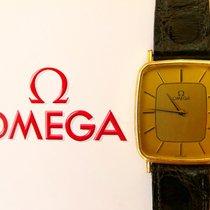 Omega Gelb Gold 14K 585 Vintage Elegante Herren Armbanduhr 1365
