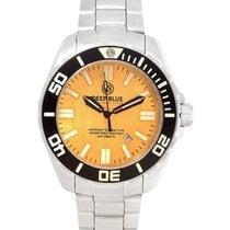 Deep Blue Dive Watch Daynight Scuba T100 Orange Dial Blue...