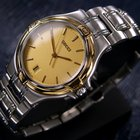 Gucci Fashion Dress Watch, 18k Gold-plated Bezel (585)