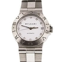 Bulgari LCV29SSD Diagono 29mm in Steel - on Steel Bracelet...