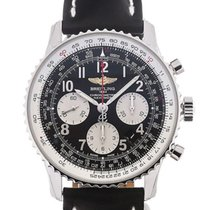 Breitling Navitimer 01 43 Arabic Numeral Dial Black Leather...