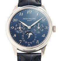 百達翡麗 (Patek Philippe) Grand Complications 18k White Gold Blue...
