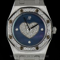 Audemars Piguet 18k W/G Rare Blue MOP Dial Diamond Set Royal...