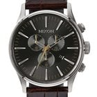 Nixon A405-1887 Sentry Chrono Leather Brown Gator 42mm 10ATM