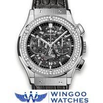 Hublot - Classic Fusion Aero Titanium Diamonds Ref. 525.NX.017...