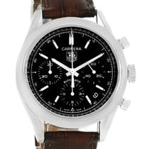 TAG Heuer Carrera Classic Black Dial Automatic Mens Watch Cv2111