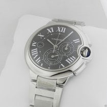 Cartier w6920077 Ballon Bleu Black Dial Chronograph Stainless...