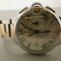 Cartier Ballon Bleu 18k Rose & S/s Chronograph W6920075...