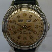 Movado vintage Calendomatic triple date STEEL ref 4456