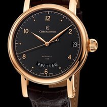 Chronoswiss Sirius Day Date Manufacture Red Gold-Silver Black...