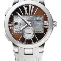 Ulysse Nardin EXECUTIVE DUAL TIME LADY Steel Case Dial Brown...