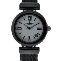 Charriol Ael Black Ceramic Case With White Emamel Dial On...