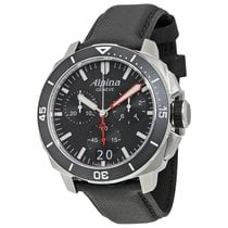 Alpina Seastrong Diver 300 Big Date Chronograph Black Dial...