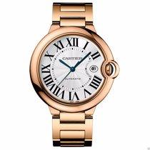 Cartier Ballon Bleu 42mm w69006z2 18kt Rose Gold on Bracelet NEW